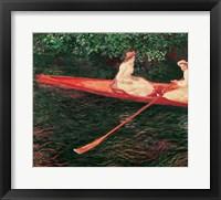 Framed Boating on the Epte, c.1890