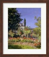 Framed Flowering Garden at Sainte-Adresse, c.1866