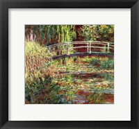 Framed Waterlily Pond: Pink Harmony, 1900