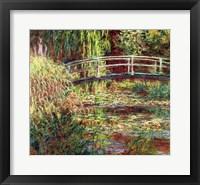 Framed Waterlily Pond: Pink Harmony, 1900