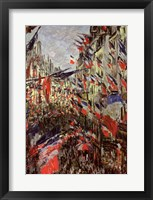 Framed Rue Saint-Denis, Celebration of June 30, 1878