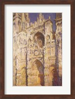 Framed Rouen Cathedral in Full Sunlight: Harmony in Blue and Gold, 1894