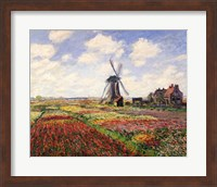 Framed Tulip Fields with the Rijnsburg Windmill, 1886