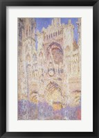Framed Rouen Cathedral at Sunset, 1894