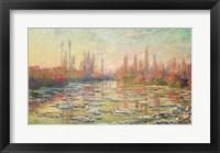 Framed Thaw on the Seine, near Vetheuil, 1880