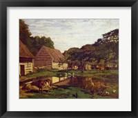 Framed Farmyard in Normandy, c.1863