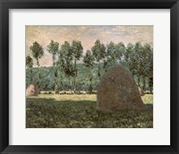 Framed Haystacks near Giverny, c.1884-89
