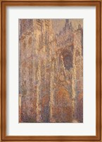 Framed Rouen Cathedral, Midday, 1894