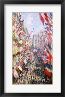 Framed Rue Montorgueil, Paris, Celebration of June 30, 1878