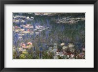 Framed Waterlilies: Green Reflections, 1914-18 (left section)