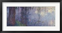 Framed Waterlilies: Morning with Weeping Willows, detail of the left section, 1914-18