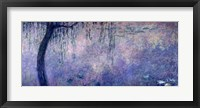 Framed Waterlilies: Two Weeping Willows, left section, 1914-18
