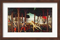 Framed Story of Nastagio degli Onesti: Nastagio's Vision of the Ghostly Pursuit in the Forest, 1483 or 1487