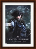 Framed Pirates of the Caribbean 4 - Black Beard