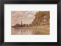 Framed Zaandam (Holland) 1871