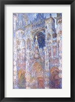 Framed Rouen Cathedral, Blue Harmony, Morning Sunlight, 1894