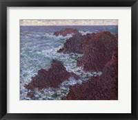 Framed Rocks at Belle-Ile, the Wild Coast, 1886