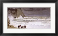 Framed Rough Sea at Etretat, 1868-69