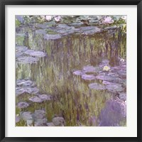 Framed Nympheas at Giverny, 1918