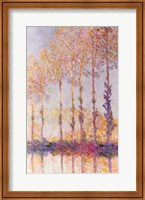 Framed Poplars on the Banks of the Epte, 1891