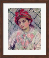 Framed Portrait of Blanche Hoschede (1864-1947) as a Young Girl, c.1880
