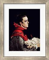 Framed Camille Monet (1847-79) in a Red Cape, 1866