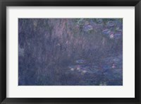 Framed Waterlilies: Reflections of Trees, detail from the left hand side, 1915-26
