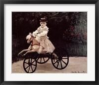 Framed Jean Monet on his Hobby Horse, 1872