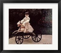 Framed Jean Monet on his Hobby Horse, 1872