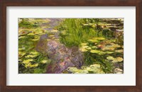 Framed Waterlilies (green horizontal)