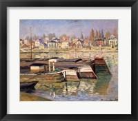 Framed Seine at Asnieres, 1873