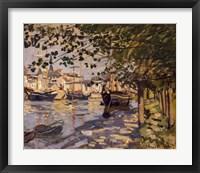 Framed Seine at Rouen, 1872