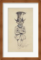 Framed Groom in a top hat, 1857