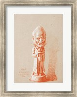 Framed Portrait of a shareholder, from a plaster of Cuquemelle