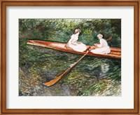 Framed Pink Rowing Boat