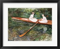 Framed Pink Rowing Boat