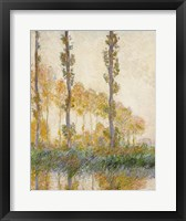 Framed Three Trees, Autumn, 1891