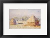 Framed Haystacks, Morning Effect