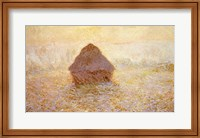 Framed Haystacks, Sun in the Mist