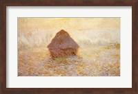 Framed Haystacks, Sun in the Mist