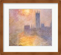 Framed Houses of Parliament, Sunset, 1904