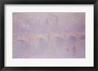 Framed Waterloo Bridge, Hazy Sunshine