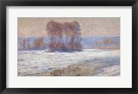 Framed Seine at Bennecourt, Winter