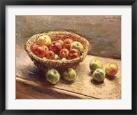 Framed Bowl of Apples, 1880