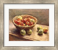 Framed Bowl of Apples, 1880