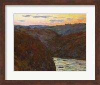 Framed La Creuse, Sunset