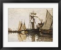 Framed Port of Honfleur, c.1865