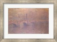Framed Thames at London, Waterloo Bridge, 1903