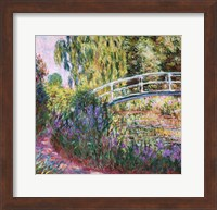 Framed Japanese Bridge, Pond with Water Lilies, 1900