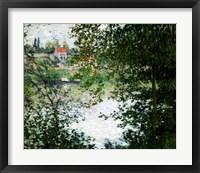 Framed Ile de La Grande Jatte Through the Trees, 1878